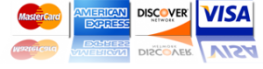 MasterCard Visa American Express Discover Accepted in 75050